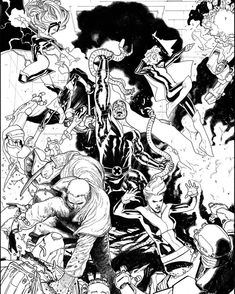 Here're my inks for #Xmen Gold #1.  #Marvel #Comics