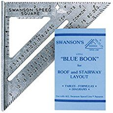 Swanson Tool Speed Square Layout Tool with Blue Book speed square; fits in pocket Incorporates features of framing square, tri square, mitre square, and protractor square Constructed of aluminum alloy Includes square, pocket booklet 7 by 7 by warranty Woodworking Guide, Custom Woodworking, Woodworking Projects Plans, Carpentry Tools, Mitered Square, Speed Square, Protractor, Diy Shops, Miter Saw