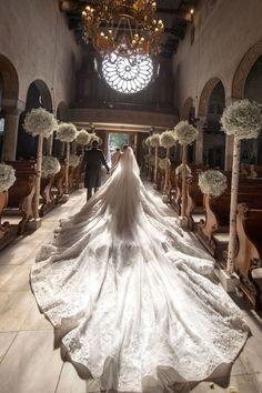 Victoria Swarovski Got Married in a Million Dollar Wedding Dress Famous Wedding Dresses, Dream Wedding Dresses, Bridal Dresses, Swarovski Wedding Dress, Crystal Wedding, Michael Cinco Gowns, Million Dollar Wedding, Celebrity Wedding Gowns, The Knot