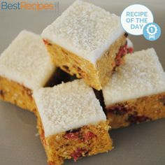 #Recipeoftheday: Cherry Ripe Biscuit Slice