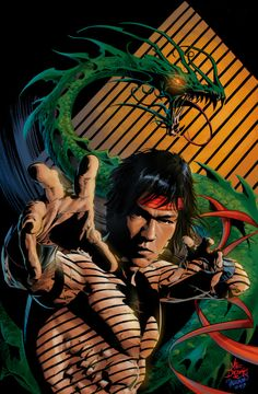 Master of Kung Fu Shang Chi by Mike Deodato ( He Looks Like Bruce Lee too Me. Comic Book Artists, Comic Book Characters, Marvel Characters, Comic Books Art, Comic Art, Marvel Dc, Marvel Comics Art, Marvel Heroes, Iron Fist Netflix