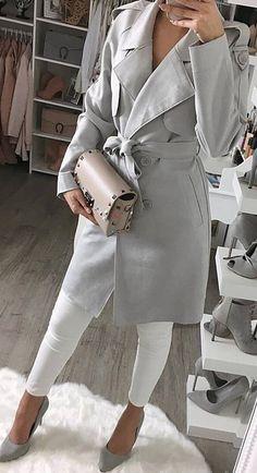 fall trends / coat + bag + heels + skinnies