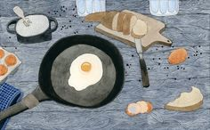 Egg For Breakfast Art Print by Yuliya   Society6