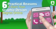 6 reasons to earn your graphic design degree online. #graphicdesign