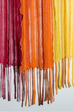 silkkisifonkihuivi  sopii hyvin nuno-huovutukseen. Accessories, Fashion, Moda, Fashion Styles, Fashion Illustrations, Jewelry Accessories