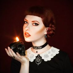 Red Hair Witch Gothic Make Up Pale Skin