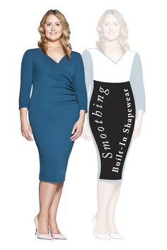 Patricia Dress with SSSlip technology that Smooths, Shapes and Slims. Shop now at patriciaotoole. Classic Outfits, Shapewear, Shop Now, Dresses For Work, Slim, Shapes, Technology, Clothes For Women, Book