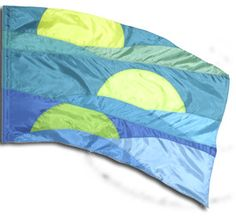 fi309lg Moon over the Ocean Color Guard flag from The Band Hall