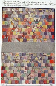 Paul Klee | Once Emerged from the Grey of the Night | Asemic Writing and Art