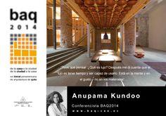Anupama Kundoo. Conferencista BAQ2014. Fotografía © cortesía de la XIX Bienal Panamericana de Arquitectura de Quito.