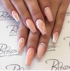 Nude stiletto nails