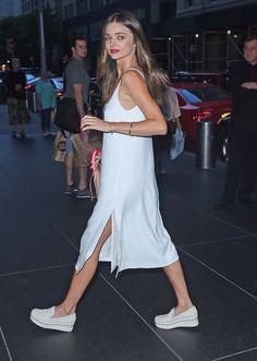 Miranda Kerr giving us slip dress goals