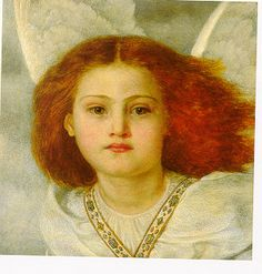 'Bird of God' by Joana Boyce, 1861. Inspired by Browning's poem 'Guardian Angel'.