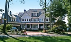 Opulent Shingle-Style House Plan - 93092EL | 1st Floor Master Suite, Bonus Room, Butler Walk-in Pantry, CAD Available, Cape Cod, Den-Office-Library-Study, Luxury, Media-Game-Home Theater, PDF, Photo Gallery, Shingle, Sloping Lot | Architectural Designs