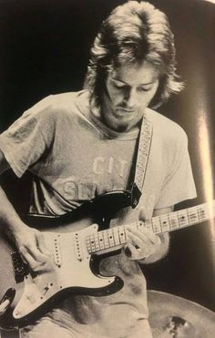 "Eric Clapton wearing the ""City Slickers"" shirt Duane Allman traded him for the purple ""peacock"" shirt."