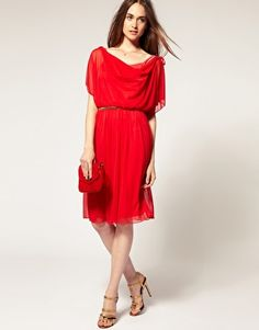River island Split Sleeve Belted Dress by ASOS. Gorgeous!!