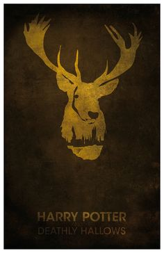 """Vintage Harry Potter Movie Poster - """"The Deathly Hallows"""": Fantasy Art Print Harry Potter Deathly Hallows, Harry Potter Love, Harry Potter Universal, Harry Potter World, Laurent Durieux, Harry Potter Movie Posters, Fan Art, Minimalist Poster, Mischief Managed"""