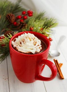 Mexican Hot Chocolate (3 servings)  3 Tbsp unsweetened cocoa powder  3 C milk  1/2 C white sugar  1/2 tsp vanilla extract  1/2 tsp ground cinnamon  1 cinnamon stick  pinch cayenne chili powder  Add all ingredients to a saucepan over medium-low heat until chocolate powder is well mixed into the milk. Disgard cinnamon stick and enjoy!
