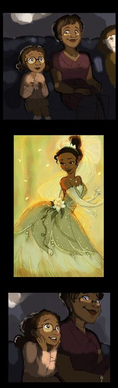 This is why we need more diverse Disney princesses because every where out there are little girls waiting to see someone like them. And when they do, it gives them the chance to imagine being a Disney princess themselves. Walt Disney, Disney Pixar, Disney And Dreamworks, Disney Animation, Disney Magic, Disney Art, Disney Dream, Disney Love, Fanart