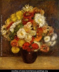 Bouquet Of Chrysanthemums - Pierre Auguste Renoir - www.most-famous-paintings.org