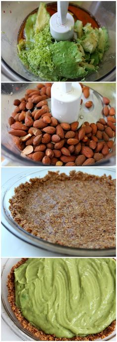 No-Bake Avocado Lime Pie with Almond Crust recipe
