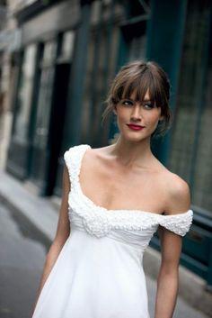 Empire cut wedding dress #bridal