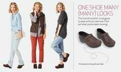 Cute clogs style...how to wear clogs Might bring my Danskos to Disney...