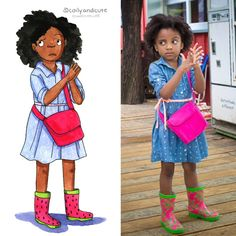 Coily and Cute Natural Hair Art, Natural Hairstyles For Kids, Natural Hair Styles, Curly Hairstyles, Black Girls Rock, Black Kids, Baby Afro, Pastel Portraits, Black Is Beautiful