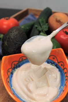This Homemade Dairy Free Sour Cream Is Gluten Free Palm Oil Free And Vegan Creamy And Delicious It Can Be Vegan Sour Cream Sour Cream Recipes Food Allergies