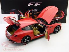 Ferrari FF Four 2010 red 1:18 Hotwheels Elite