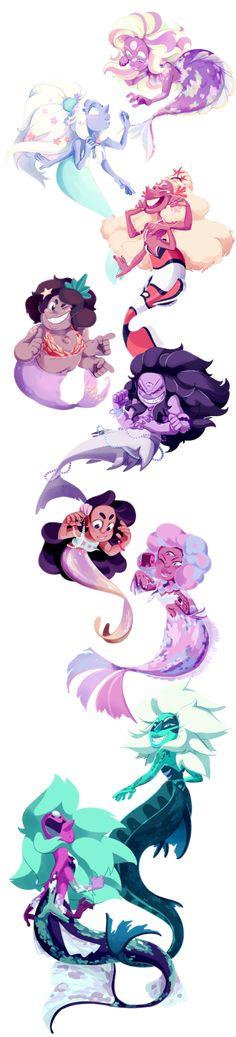 It's the Fusion Mermaid brigade! by weirdlyprecious on DeviantArt