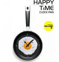 Happy Time Pan Fried Egg Novelty Wall Clocks