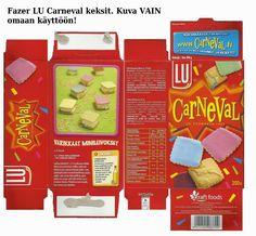 Fazerin Carneval keksipaketti             Printti vain omaan käyttöön.   Tallenna koneellesi ja skaalaa omaan nukkekotimittakaavaasi s...