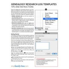 Keep a Research Log | Genealogy | Pinterest | Logs, Genealogy and ...