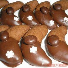 Kávés-csokis kifli - kahveli Biscuits, Torte Cake, Gingerbread Cookies, Tiramisu, Food And Drink, Pudding, Christmas, Cukor, Advent