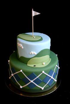 Golf cake, by Sugarplum Cake Shop