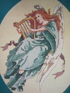 See Sally Sew-Patterns For Less - Angels Descnding II Playing Harp Counted Cross Stitch Hickory Hollow Chart DS - 6 , $9.00 (http://stores.seesallysew.com/angels-descnding-ii-playing-harp-counted-cross-stitch-hickory-hollow-chart-ds-6/)