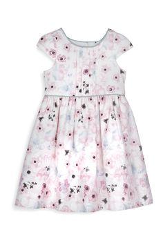 Vestido de fiesta rosa con florecitas