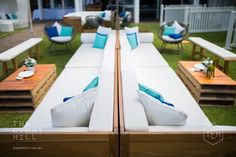 Premium Teak Lounge Set Up #wedding #furniture #event #premium #teak #wood #classy #lounge #lounging #engagement #hire