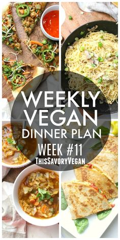 Vegan Dinner Plan - This Savory Vegan 5 nights worth of vegan dinners to help inspire your menu. Choose one recipe to add to your rotation or make them all - shopping list included Quick Vegetarian Meals, Vegan Dinner Recipes, Vegetarian Cooking, Vegan Dinners, Whole Food Recipes, Vegetarian Italian, Vegetarian Meal Planning, Cooking Beets, Paleo Dinner