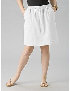 Roomy shorts are hidden under a lightweight skirt. Side pockets. Relaxed fit. 100% woven cotton. Machine wash. Imported. Length: 19. sonsi.com