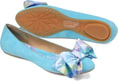 Baby Blue Bow Flats