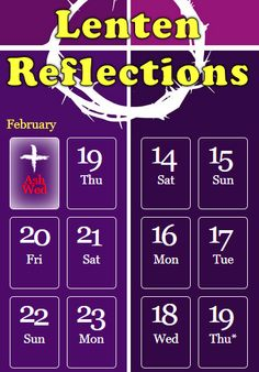 Journey through Lent with daily Good News Reflections using this awesome Lenten calendar! http://gnm.org/lent-2015/