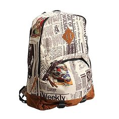 dc1f606918 Yonger Canvas Vintage Backpack Travel Bags School Bag for Students -- This  is an Amazon
