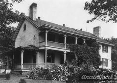 The home of President Zachary Taylors home in Kentucky.  This is a photo of the home in 1922, about 70 years after President Taylors death. The home was called Springfield and he was buried here, beside his parents.  Photo courtesy of the Library of Congress, Caufield & Shook, Inc., Louisville, Kentucky