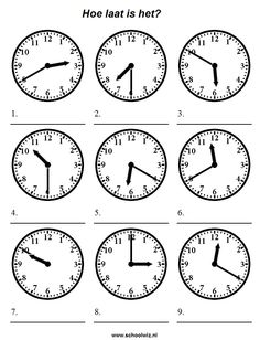 Time Worksheets for Kids Telling Time Lessons Tes Teach Clock Worksheets, Spanish Worksheets, Worksheets For Kids, Printable Worksheets, Printables, Spanish Lessons, English Lessons, Learning Spanish, Telling Time In Spanish