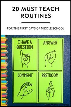 Must Teach Middle School Routines and Procedures is part of Teaching middle school - 20 middle school routines and procedures to keep your students on the right track and out of trouble Set your classroom up for success! Classroom Procedures, Classroom Behavior, Music Classroom, Classroom Ideas, Middle School Procedures, Classroom Organization, Middle School Management, Classroom Libraries, Classroom Expectations