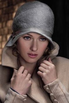 Soft gray hat