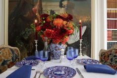 For a series of table settings, Carolyne Roehm channeled advice and inspiration from two close friends.