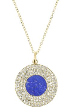 Handmade 18-karat gold Lapis lazuli, total weight: 1.50-carats; pavé diamonds, total weight: 0.96-carats Clasp fastening This piece has been certified in accordance with the Hallmarking Act 1973